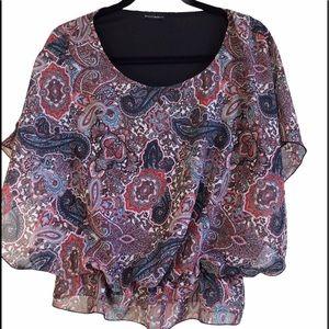 Paisley blouse - Pink, Blue, White Mercer&Madison